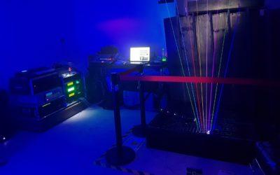Franck Morisseau et sa harpe laser au SynthFest 2019