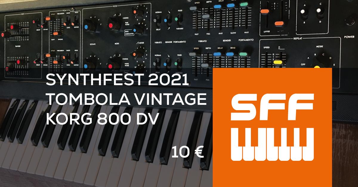 SynthFest France - Tombola vintage 2021 - KORG 800DV
